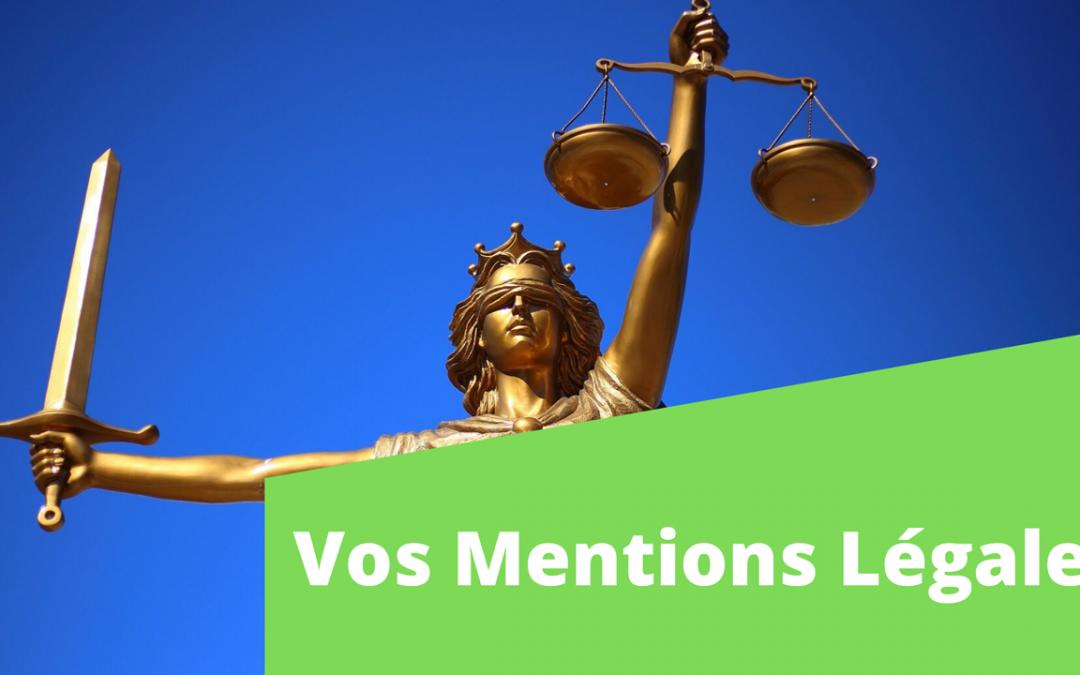 Vos mentions légales pour votre site internet