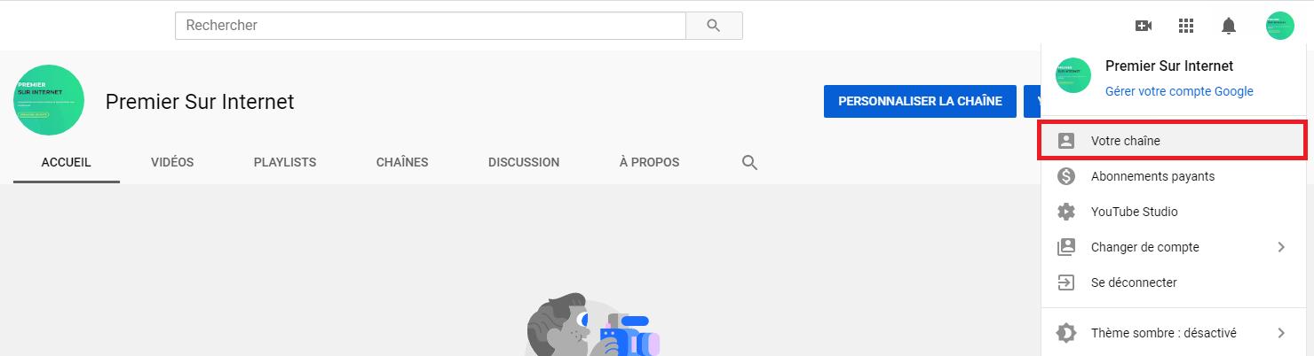 Comment accéder à sa chaîne YouTube ?