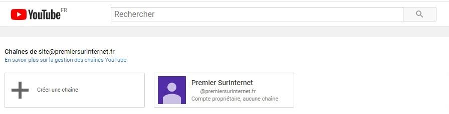 Chaine Youtube entreprise