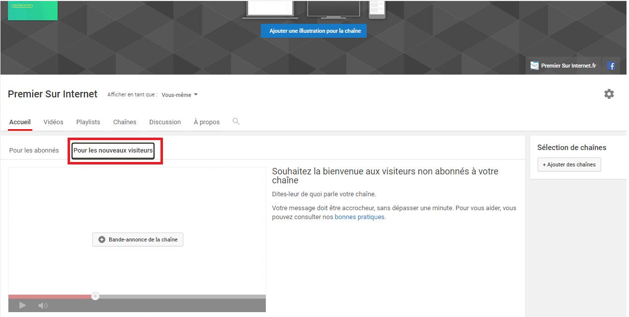 Créer une vidéo de bande annonce pour les nouveaux visiteurs qui arrivent sur votre chaîne YouTube pour la 1ère fois.